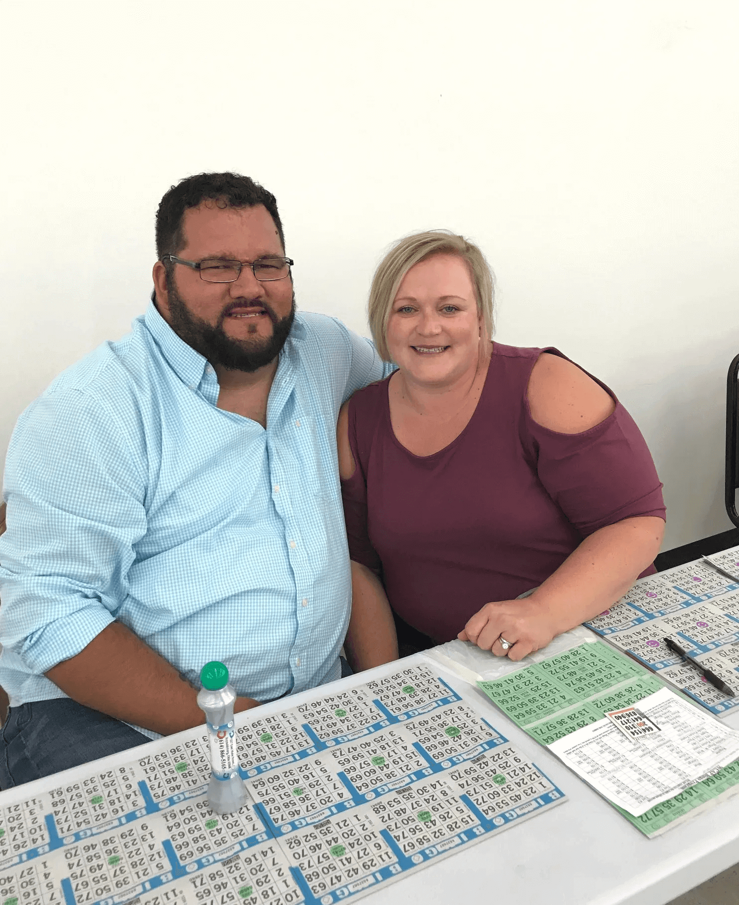couples are happy playing bingo
